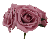 Large Cottage Foam Rose 8cm x 5 Heads Vintage Rose