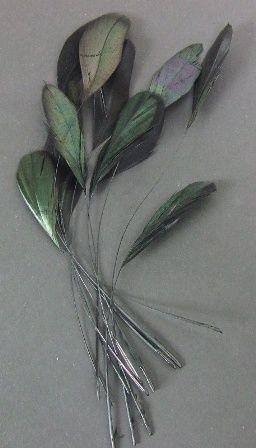 Diamond Feather x 12 Black