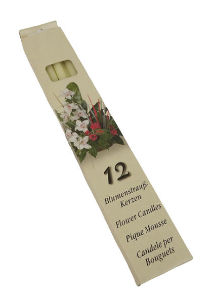 Flower Candle X 12 Ivory