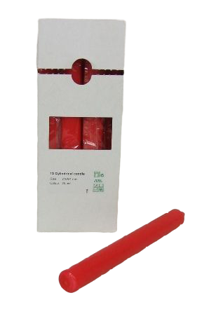 Cylindrical Candles 210/21mm Red