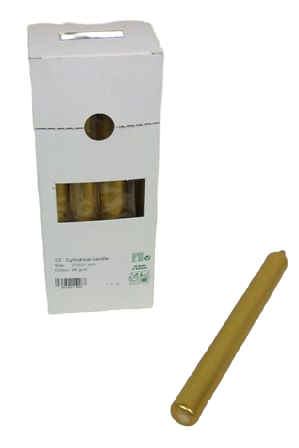 Cylindrical Candles 210/21mm Gold