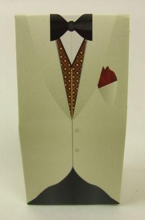 Cream Waistcoat Tuxedo Box x 10pcs