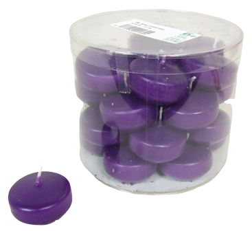 Floating Candle Small x 28 Dk Lilac