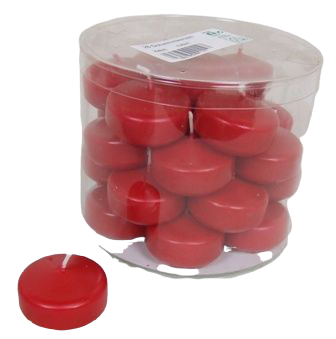 Floating Candle Small x 28 Rubin Red