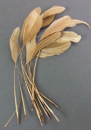 Diamond Feathers x 12 Brown