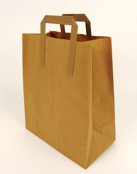 Carrier Bag Brown Paper 10inch x 15inch x 12inch x 250 Pcs