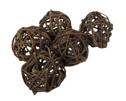 Brunch Ball Natural Rustic 4cm (1.5inch) X 20