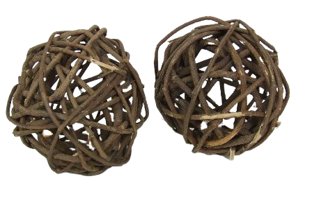 Brunch Ball Natural Rustic 8cm (3inch) X 6