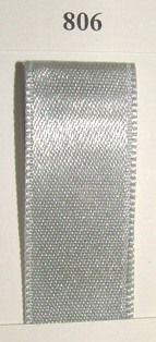 Double Face Satin 3.5mmx50Mtr Silver