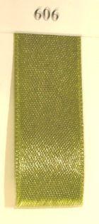 Double Face Satin 6.5mmx50Mtr Moss Green