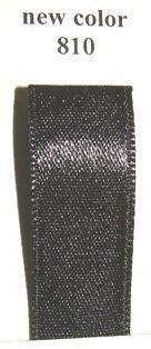Double Face Satin 6.5mmx50Mtr Black