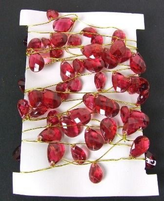 Crystal Garland on Silver Wire Burg - Gold