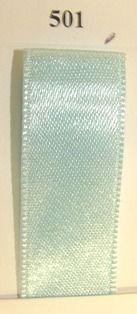 Double Face Satin 3.5mm x 50Mtr Light Blue