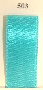Double Face Satin 3.5mm x 50Mtr Turquoise