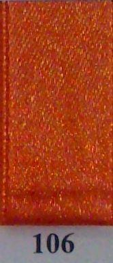 Double Face Satin 25mm x 25mtr Burned Orange