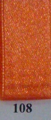 Double Face Satin 25mm x 25mtr Orange