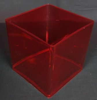 15x15 cm Design Cube - Red