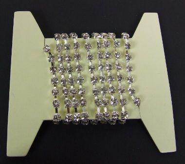 Clear Diamante On silver Chain