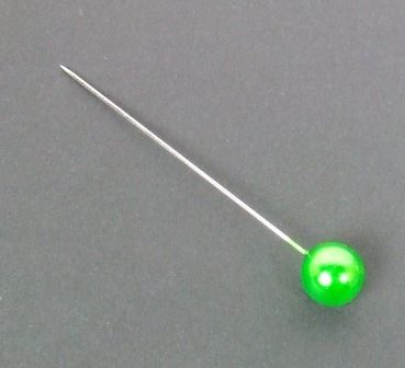 10mm Corsage Pins Apple Green x 72