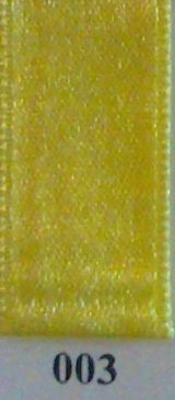 Double Face Satin 38mm x 25mtr Light Yellow