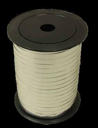 5mm x 250mtr Silver Metallic Curling Ribbon