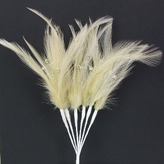 Diamonte Feathers Champagne x 3 Bchs