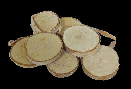 Birch Woodslices Round x 92 pcs - App 3 - 5cm Diameter