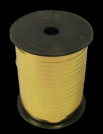 5mm x 250mtr Metallic Gold Curling Ribbon