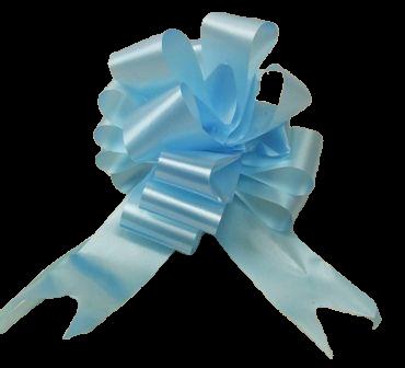 50mm Light Blue Pull Bows x 20pcs