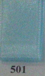 Double Face Satin 6.5mmx50Mtr Light Blue