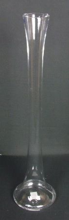 50cm Glass Lily Vase