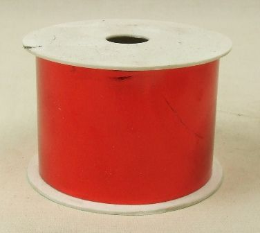50mm x 25yds Red Metallic Ribbon