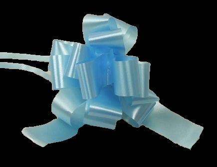 31mm Pull Bows Light Blue x 30