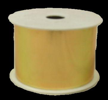 50mm x 25yds Gold Metallic Ribbon