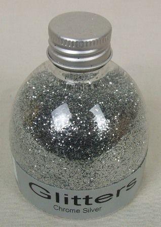 Flower Glitter - Chrome Silver 150ml