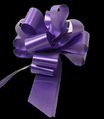 50mm Pull Bows Purple x 20pcs