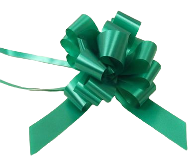 31mm Pull Bows Emerald x 30pcs