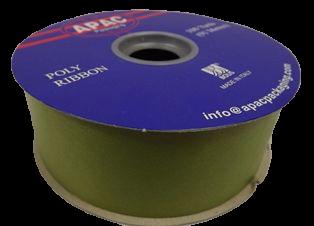 2inch x 100yds Polypro Ribbon Moss Green