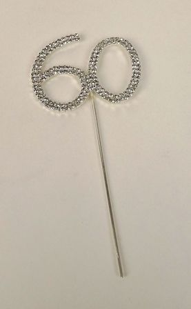 Diamante 60th On Silver Stem