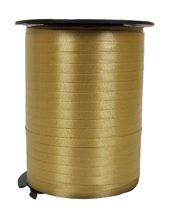 5mm x 500mtr Curling Ribbon Old Gold