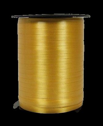 5mm x 500mtr Curling Ribbon Gold