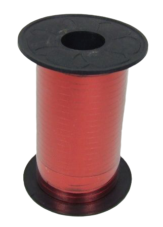 5mm x 250mtr Red Metallic Curling Ribbon