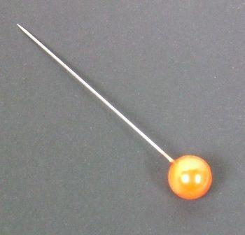 10 x 65mm Corsage Pins Orange x 72pcs