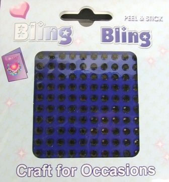 4mm Bling Bling Stick On Diamantes Black x 100