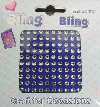 4mm Bling Bling Stick On Diamantes Clear x 100