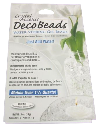Deco Beads x 15g Clear