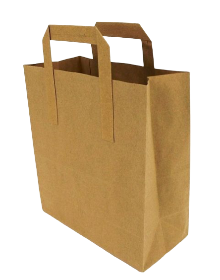 Carrier Bag Brown Paper 8inch x 13inch x 10inch x 250 Pcs
