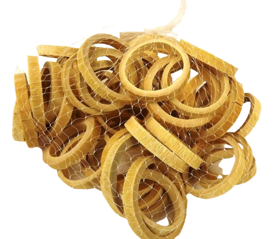 Bamboo Ring Slices 5 - 6cm x 50pcs Natural