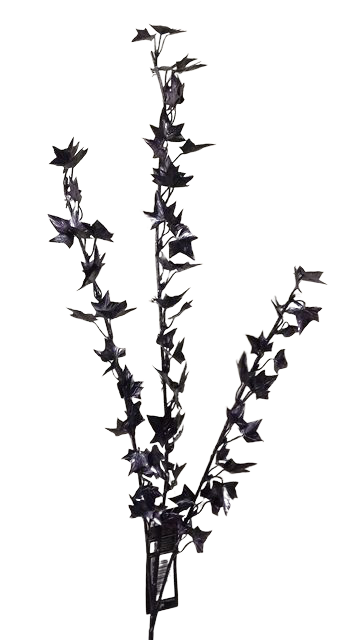 64cm Plated Ivy Spray Black
