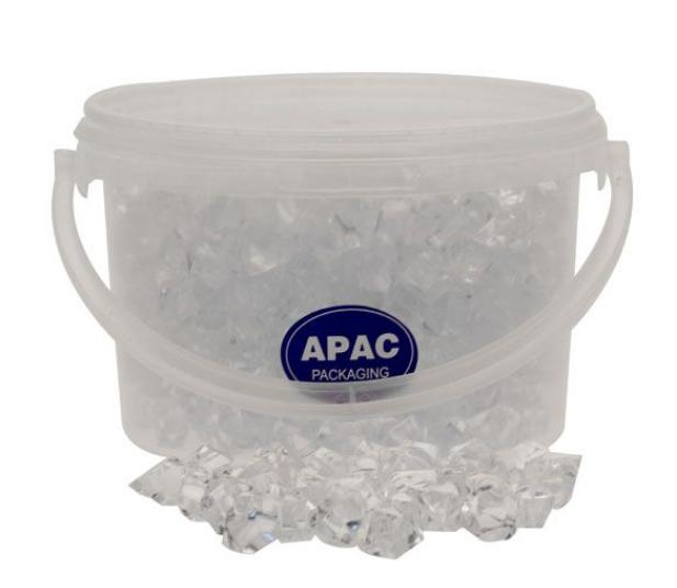1.6kg Bucket Clear Large Acrylic Stones
